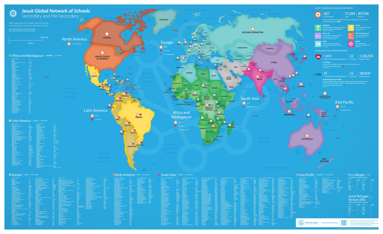 Global Jesuit Education Map