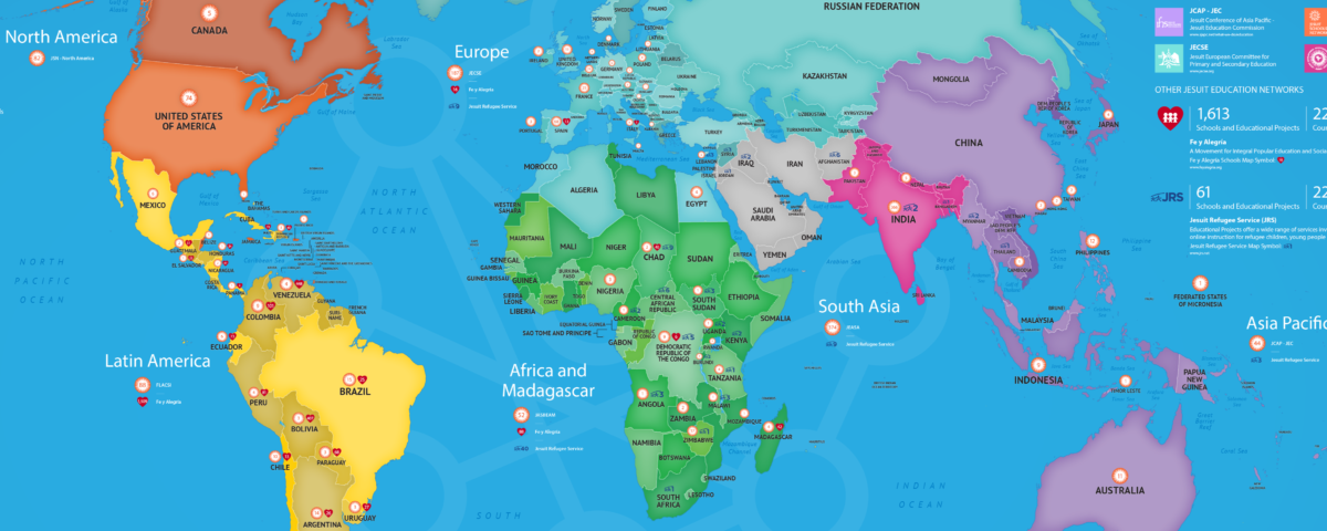 Jesuit Global Education Map